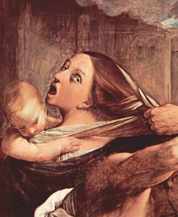Guido Reni, Η σφαγή των νηπίων, 1611 (λεπτομ�ρεια).