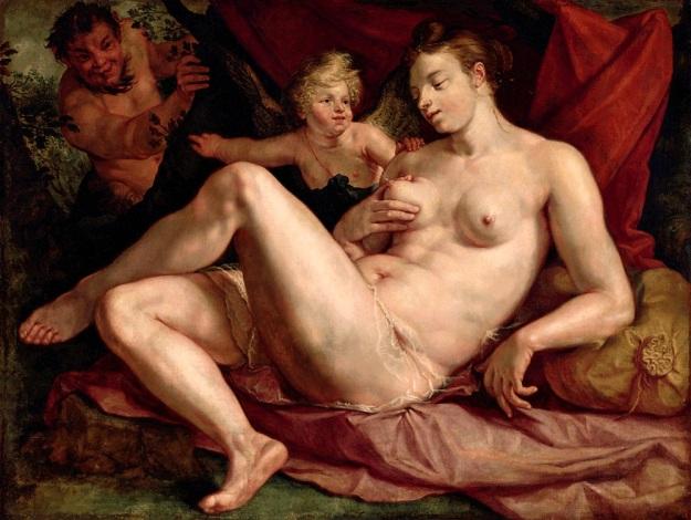 Ο Δίας γοητεύθηκε από την ομορφιά της Αντιόπης, της κόρης του Αισωπού και την αποπλάνησε σε μορφή σατύρου. Το θέμα εμπνέει τον Hendrick Goltzius: Δίας και Αντιόπη, 1616.