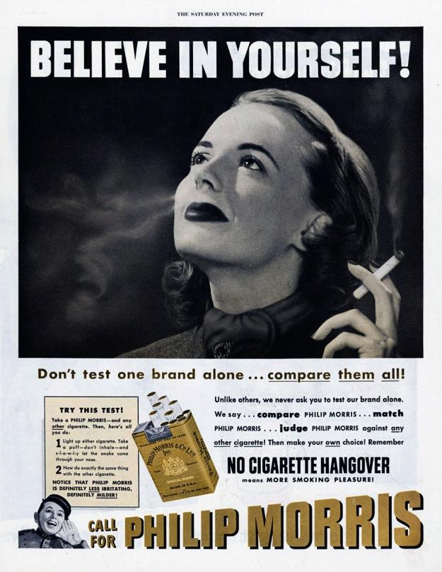 Απόδειξε ότι πιστεύεις στον εαυτό σου καπνίζοντας. Η αυτοεκτίμηση αυξάνεται με τη μίμηση του αρσενικού μοντέλου.