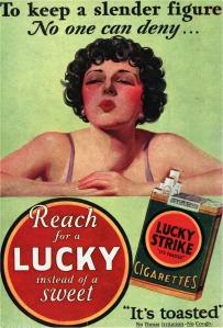 Η σχέση βάρους και καπνίσματος ήταν από τα βασικά μηνύματα της διαφημιστικής εκστρατείας των καπνοβιομηχανιών.