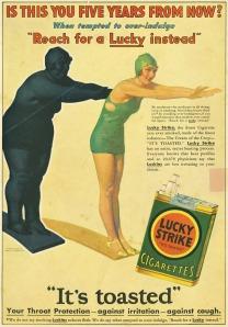 Το αρνητικό υπέρβαλο είδωλο στην υπηρεσία για την αποενοχοποίηση της συνήθειας του καπνίσματος.