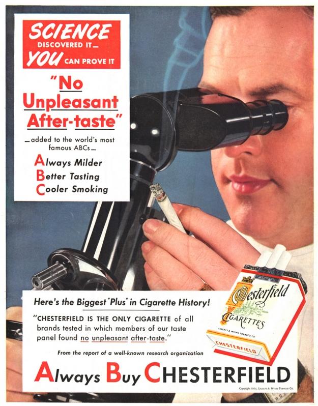 Ποιος είπε ότι το τσιγάρο είναι ασύμβατο με την εξέταση στο μικροσκόπιο: