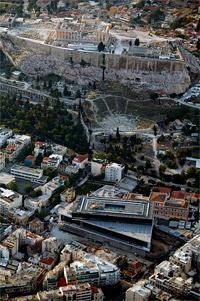 Μουσείο-Ακρόπολη από ψηλά