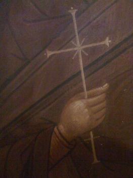Το άγιο χέρι της Αγίας Παρασκευής του τέμπλου.
